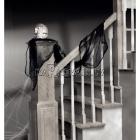 Marle drapēšanai, melnā, 61cm x 4.5m, dekorācija Helovīniem.