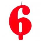 """Tortes svece staitlis """"6"""" , sarkanā, dzirkstošā, 9.5 cm"""