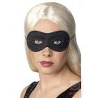 Karnevāla melna maska Farfalla