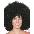 Afro stila parūka, liela apjoma, melna, sintētika