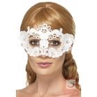 Mežģīņu maska uz acīm, balta