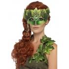 Meža nimfas maska uz acīm, zaļa