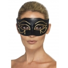 Melna, ēģiptiešu stila Hora acu maska