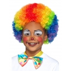 Klauna  afro-parūka, daudzkrāsains, sintētika, bērnu