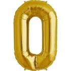"""Burtu balons zelta  krāsā """"O"""",  87cm, folijas figūra paredzēta piepūšanai ar hēliju"""