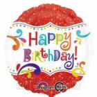 Spīguļojošs Dzimšanas diena folija balons 48 cm