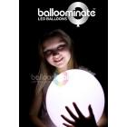 LED baloniem baltais