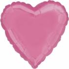 Sirds formas balons tumši rozā (bubble gum pink) krāsā, folijas balons, piepūšams ar hēliju, izmērs 43 cm