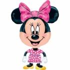 """Staigājošs folijas balons """"Pelīte Minnija / Minnie Mouse"""", izmērs 55 x 78 cm"""