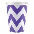 8 Cups New Purple Chevron 266 ml
