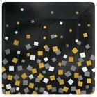 8 Plates Sparkling Confetti   squared metallic paper 25,4cm