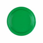 Papīra šķiviji  zaļā krāsa 17.7 cm 8.gab