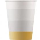 Papīra glāzes 8.gab GOLD-ROSE-GOLD-COPPER DECORATA