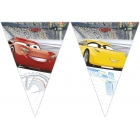 Vimpeļu (karodziņu)  virtene  (9 karodziņi) CARS 3 DISNEY  svētku atribūtika
