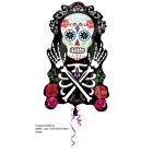 """Folijas hēlija balons Helovīniem """"Mirušo diena – skelets"""", 43 x 71 cm izmērs,"""