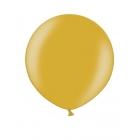 Apaļas formas liels lateksa balons zelta krāsa, 60cm, metālika, 1 gab.