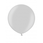 Apaļas formas liels lateksa balons sudraba krāsa, 90cm, metālika, 1 gab.