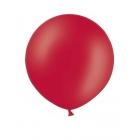 Apaļas formas liels lateksa balons sarkanā krāsā, 60cm, pastelis, 1 gab.