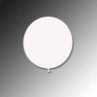 Apaļas formas liels lateksa balons baltā krāsā, 90cm, pastelis, 1 gab.