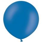 Apaļas formas liels lateksa balons spilgti zilā, krāsā, 90cm, pastelis, 1 gab.