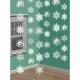 Sniegpārsliņas - piekaramās spīdīgas dekorācijas komplekts. Iepakojumā 6 gab x 2.10m