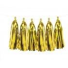 Pušķu virtene zelta krāsā (1,5 m)