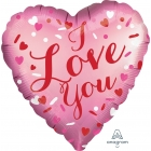 "Folija balons ""Love You"", Satin Luxe sirds formas balons, 43 cm, hēlija apjoms 0.013 kbm"