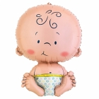 """Folijas hēlija balons bērna piedzimšanai """"Pupsīks"""", izmērs 63 x 73 cm,"""