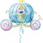 """Folijas hēlija balons """"Pelnrušķītes kariete"""", izmērs 83  x 58 cm"""