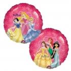 """Apaļš folijas balons """"Disneja Princeses"""", iepakots, 45 cm"""
