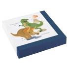 "Salvetes ""Laimīgs Dinozaurs"" 33x33 cm., 20 gab"