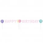 """Burtu virtene HB """"Dzimšanas diena pasteļtoņos"""" 1,5 m"""