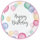 """Šķīvīši """"Dzimšanas diena pasteļtoņos"""", 23 cm., 8 gab"""