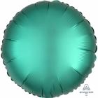 """Apaļš folijas balons """"Satin Luxe Nefrīta krāsa"""" , iepakots, 43cm"""