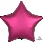 """Zvaigznes formas folijas balons """"Satin Luxe Granātābolu krāsa"""", iepakots, 43cm"""