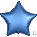 """Zvaigznes formas folijas balons """"Satin Luxe Zila krāsa"""", iepakots, 43cm"""
