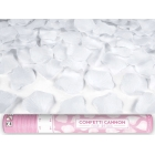 Rokas plaukškene-konfeti  ar rožlapiņām, balta, 40 cm