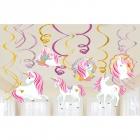 12 Spiraļu Dekoracias Magical Unicorn