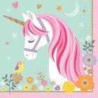 16  Salvetes Magical Unicorn 33 cm