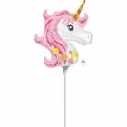 "Gaisa balons ""Magical Unicorn""  ar kociņu"