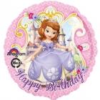 Apaļš folijas balons Sofia Sveicam Dzimšanas Dienā!, iepakots, 43 cm
