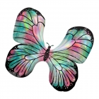 """Folijas hēlija balons """"Tauriņš,  berzes-rozā, zaigojoša krāsa"""", izmērs 76 x 66 cm,"""