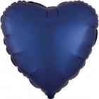 """Sirds formas folijas balons """"Satin Luxe JŪRAS Zila krāsa"""", iepakots, 43cm"""