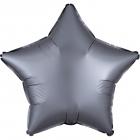 """Zvaigznes formas folijas balons """"Satin Luxe GRĀFITA krāsa"""", iepakots, 43cm"""