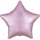 "Zvaigznes formas folijas balons ""Satin Luxe PASTEĻROZĀ krāsa"", iepakots, 43cm"