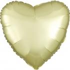 """Sirds formas folijas balons """"Satin Luxe  PASTEĻDZELTENA krāsa"""", iepakots, 43cm"""