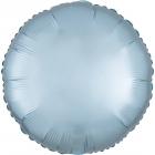 """Apaļais foljas balons """"Satin Luxe PASTEĻZILA krāsa"""", iepakots, 43cm"""