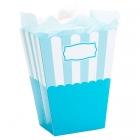 Trauciņi popkornam gaiši zili, papīrs, 8.5 x 10 x 19 cm. 2 gab.