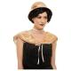 20-to gadu komplekts krēma krāsā - cepure un apmetnis no mākslīgās kažokādas
