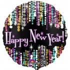 "43 cm Folija balons ar hēliju ""Happy New Year"""